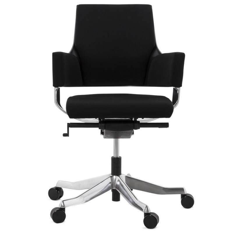 Fauteuil de bureau ergonomique BRIQUE en tissu (noir) - image 23531