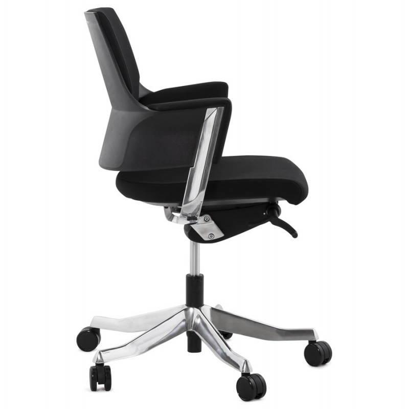 Fauteuil de bureau ergonomique BRIQUE en tissu (noir) - image 23532