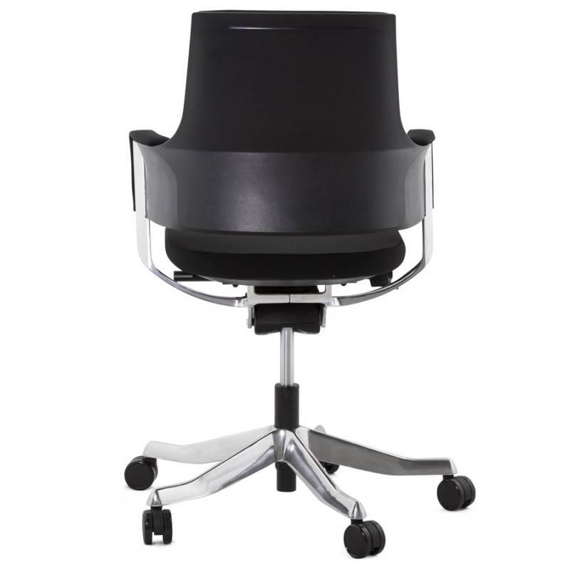 Fauteuil de bureau ergonomique BRIQUE en tissu (noir) - image 23534