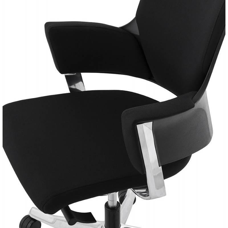 Fauteuil de bureau ergonomique BRIQUE en tissu (noir) - image 23535