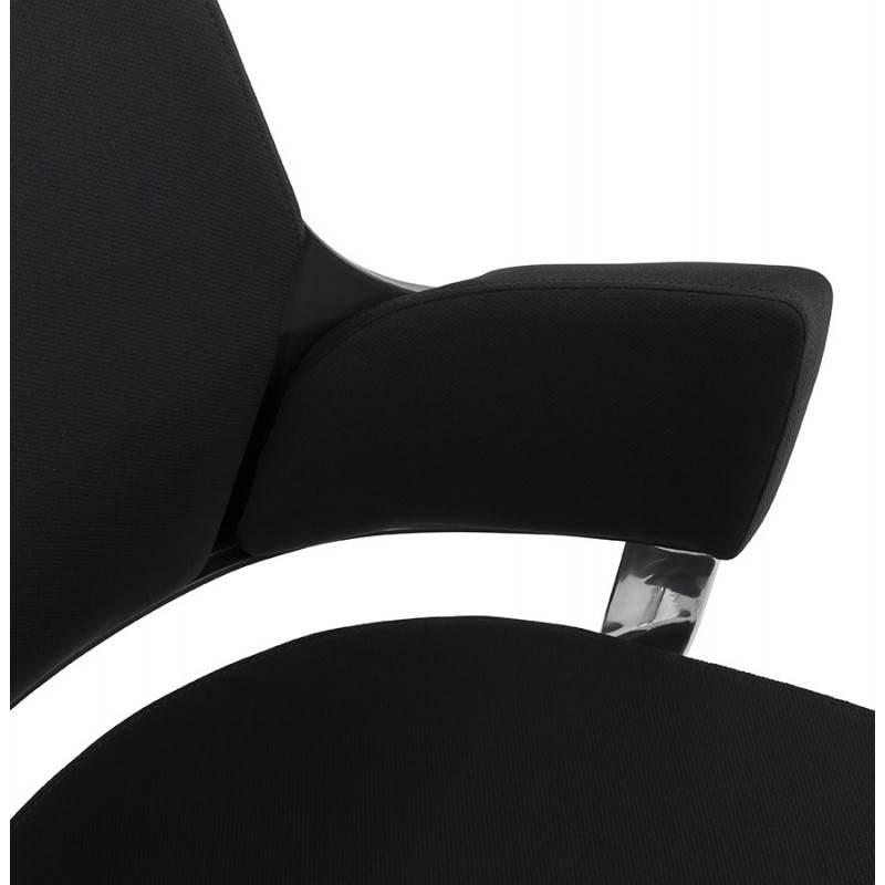 Fauteuil de bureau ergonomique BRIQUE en tissu (noir) - image 23536