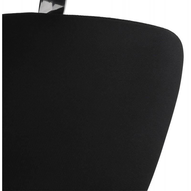 Fauteuil de bureau ergonomique BRIQUE en tissu (noir) - image 23539