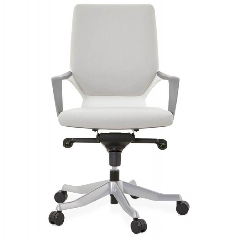 Fauteuil de bureau ergonomique ramy en tissu gris - Fauteuil bureau tissu ...