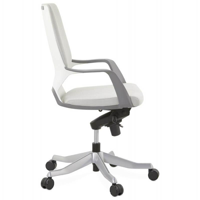 Fauteuil de bureau ergonomique ramy en tissu gris - Fauteuil de bureau tissu ...