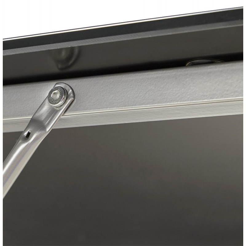 Bureau d'angle design ROVIGO en verre trempé et métal (noir) - image 23583