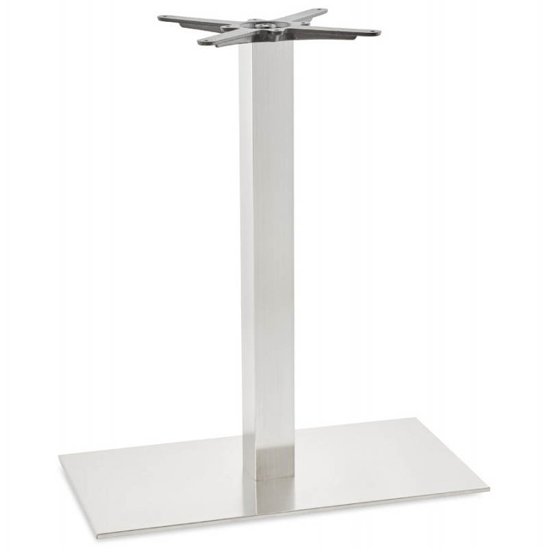Pied de table POULI en métal brossé (40cmX75cmX90cm)