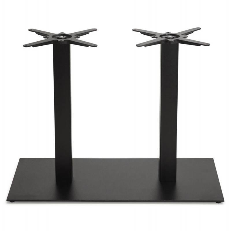 Doppelter Tischfuß RAMBOU aus lackierter Metall (50cmX100cmX73cm) (schwarz) - image 23608