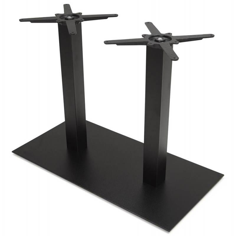Doppelter Tischfuß RAMBOU aus lackierter Metall (50cmX100cmX73cm) (schwarz) - image 23615