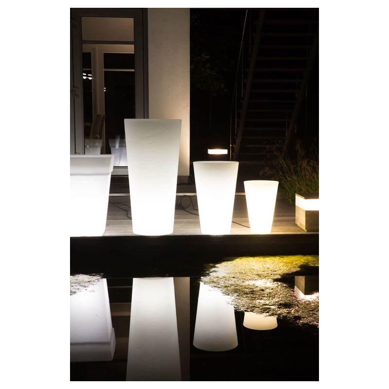 Pot ou vase lumineux intérieur extérieur BALSANE (blanc, H 45 cm) - image 23962