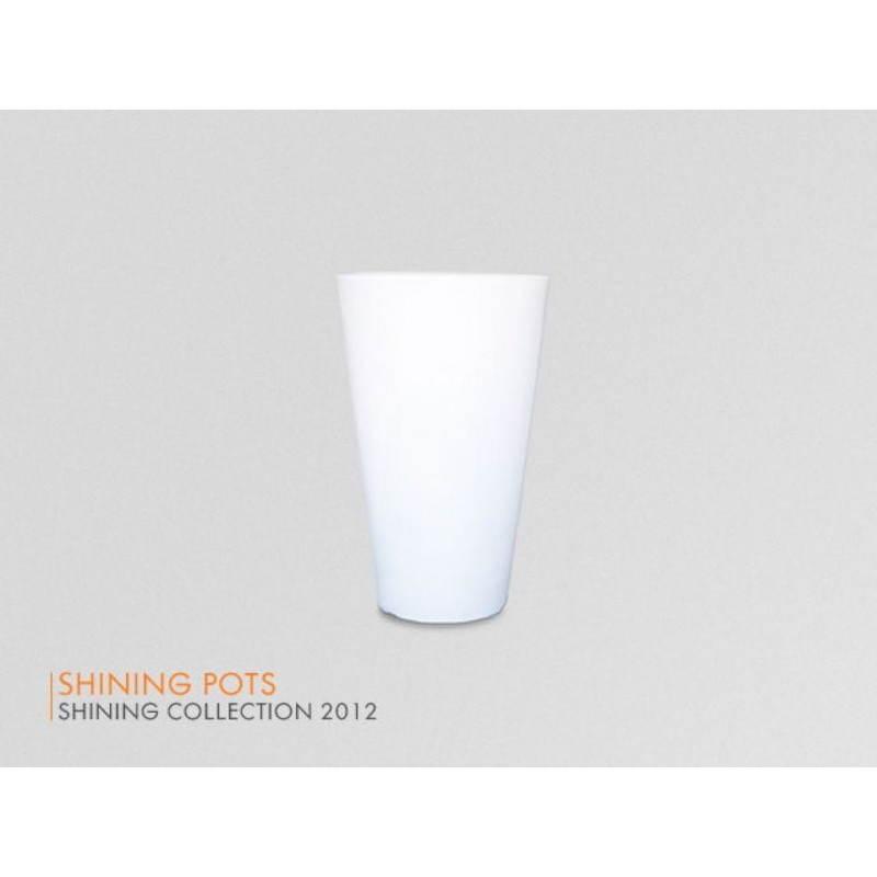 Pot ou vase lumineux intérieur extérieur BALSANE (blanc, H 45 cm) - image 23964