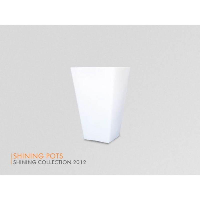 Pot ou vase lumineux rectangulaire int rieur ext rieur for Interieur blanc et lumineux