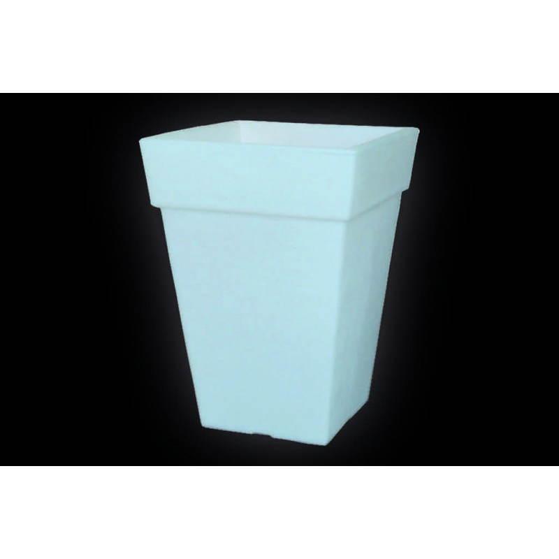 Pot ou vase lumineux rectangulaire intérieur extérieur KIWI (blanc, H 68 cm) - image 24062