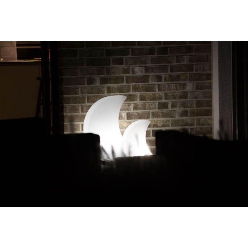 Lune lumineuse intérieur extérieur MOON (blanc, LED multicolore H 60 cm) - image 24069