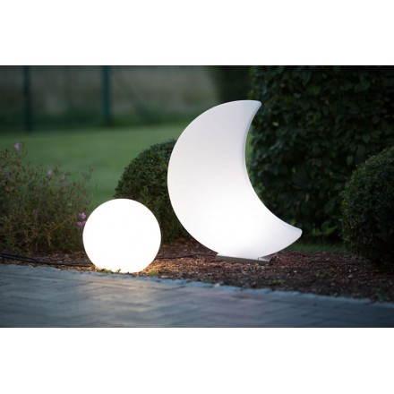 Luce interna esterna Luna MOON (bianco, multicolor LED H 60 cm)