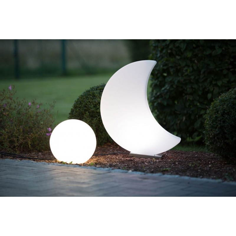 Lune lumineuse intérieur extérieur MOON (blanc, LED multicolore H 60 cm) - image 24070
