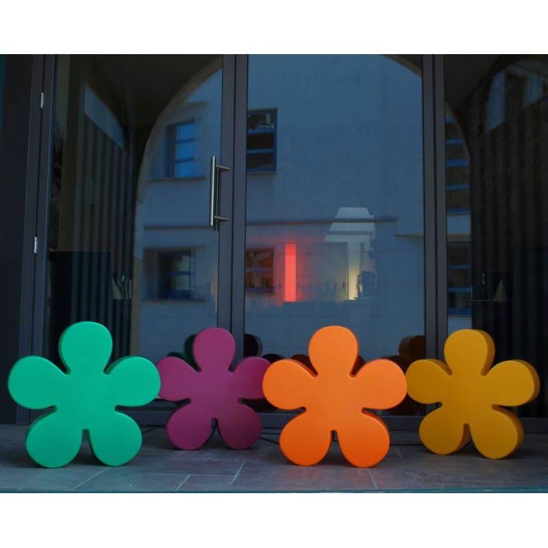 Fleur lumineuse intérieur extérieur TREFLE (vert Ø 60 cm) - image 24272