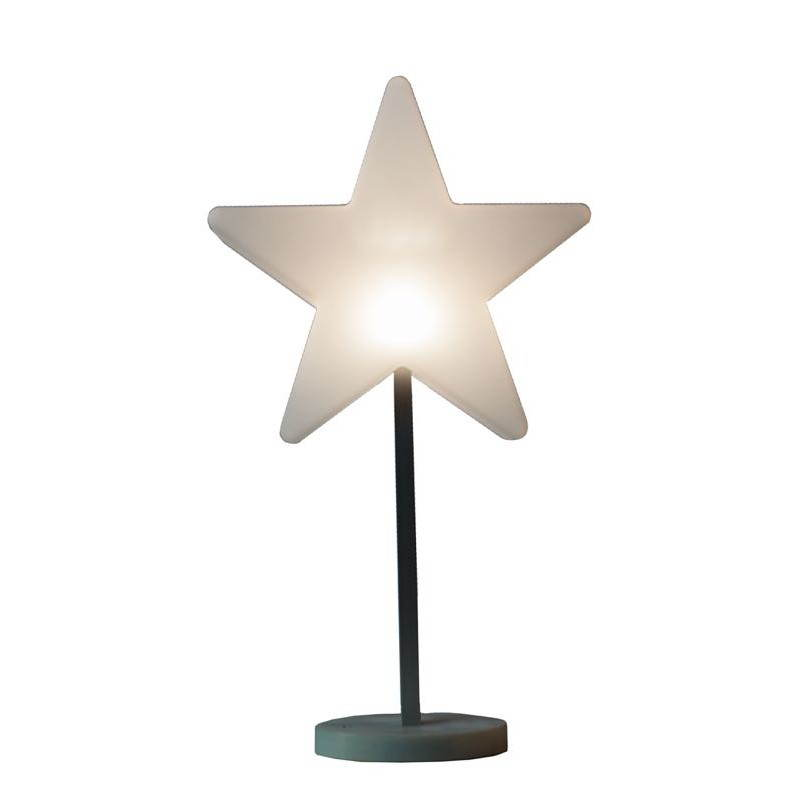 Etoile lumineuse sur pied intérieur ANNAH (blanc, LED, Ø 30 cm, batterie)