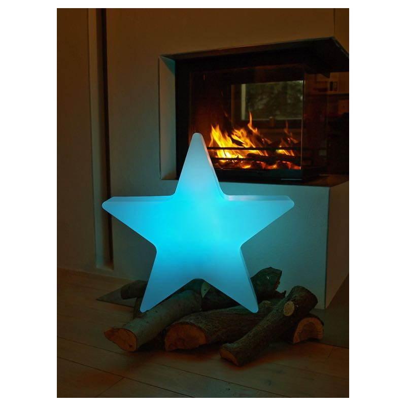 Sterne hell außen innen DANA (weiß, mehrfarbigen LED Ø 40 cm) - image 24314