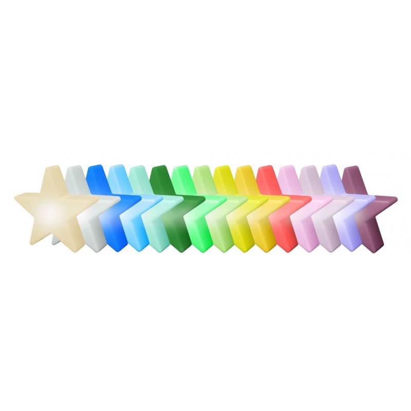 Sterne hell außen innen DANA (weiß, mehrfarbigen LED Ø 40 cm) - image 24318