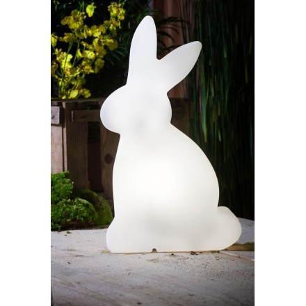 Figura chiara fuori coniglio domestico (bianco, H 70 cm)