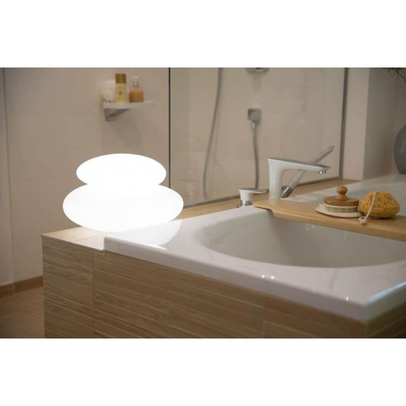 Lampe lumineuse GALET intérieur extérieur (blanc, LED multicolore)
