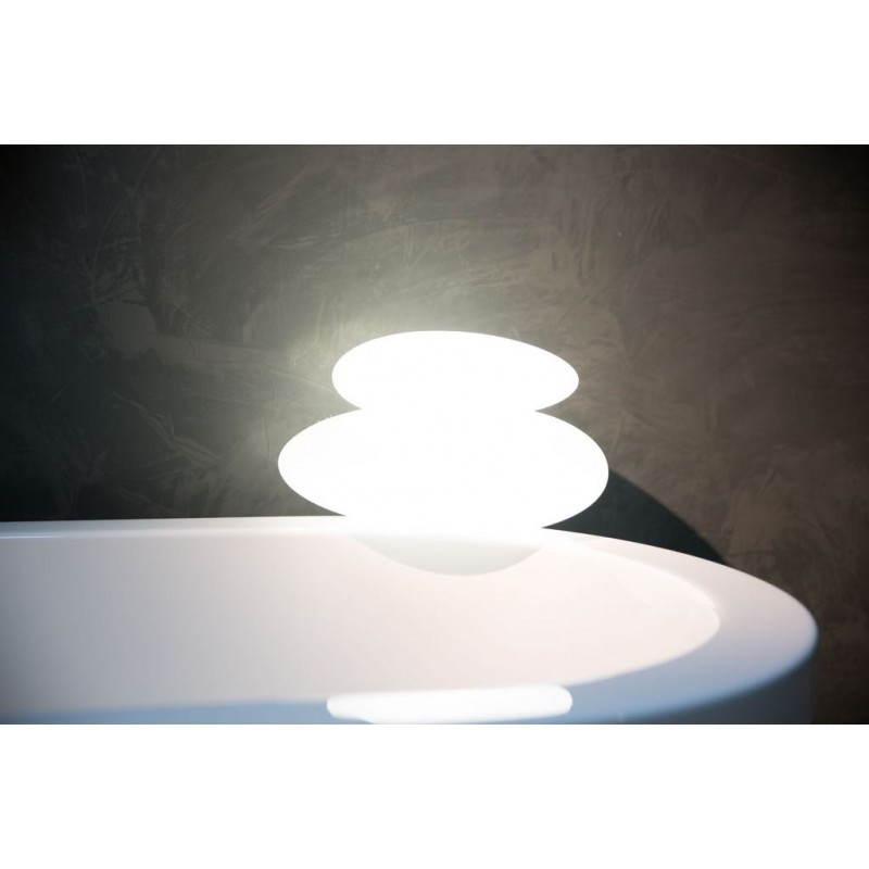 Aussenansicht Interior Walze helle Lampe (weiss)