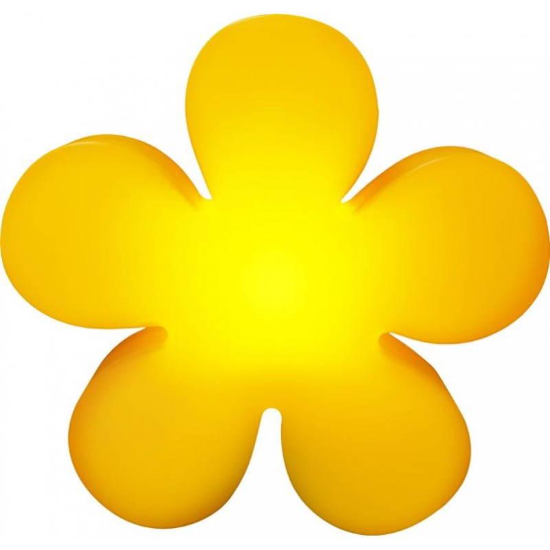 Fleur lumineuse TREFLE intérieur extérieur (jaune Ø 40 cm)