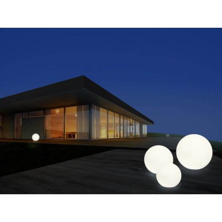 Lampe lumineuse GLOBE intérieur extérieur (blanc, LED multicolore, Ø 30 cm)