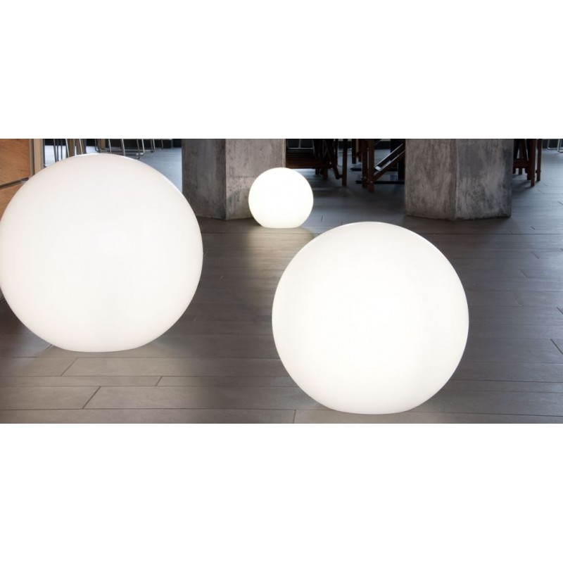 Lamp light outdoor indoor globe white multicolor led for Lampe led exterieur design