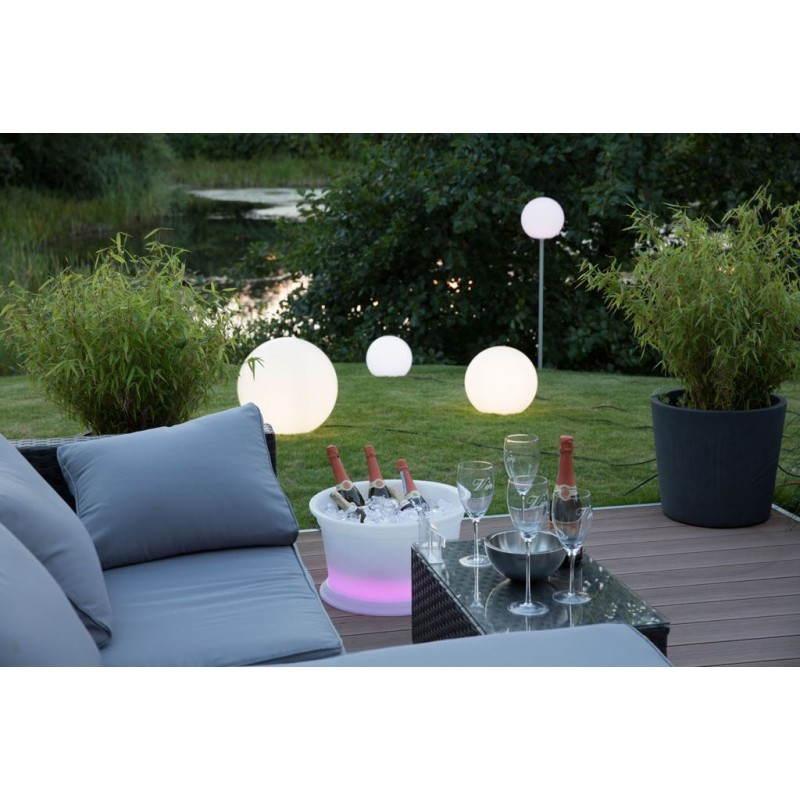 Lampada luce globo coperta all'aperto (bianco Ø 50 cm)