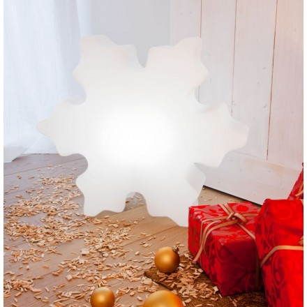 Luce del fiocco di neve all'aperto coperta di neve (LED multicolor bianco)