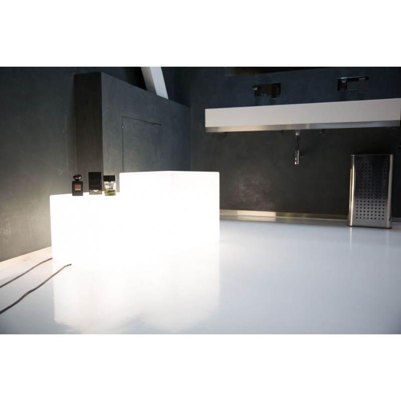 Table basse lumineuse CUBE intérieur extérieur (blanc, LED multicolore, H 33 cm) - image 24774