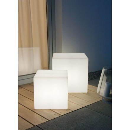 Table basse lumineuse CUBE intérieur extérieur (blanc, LED multicolore, H 33 cm)