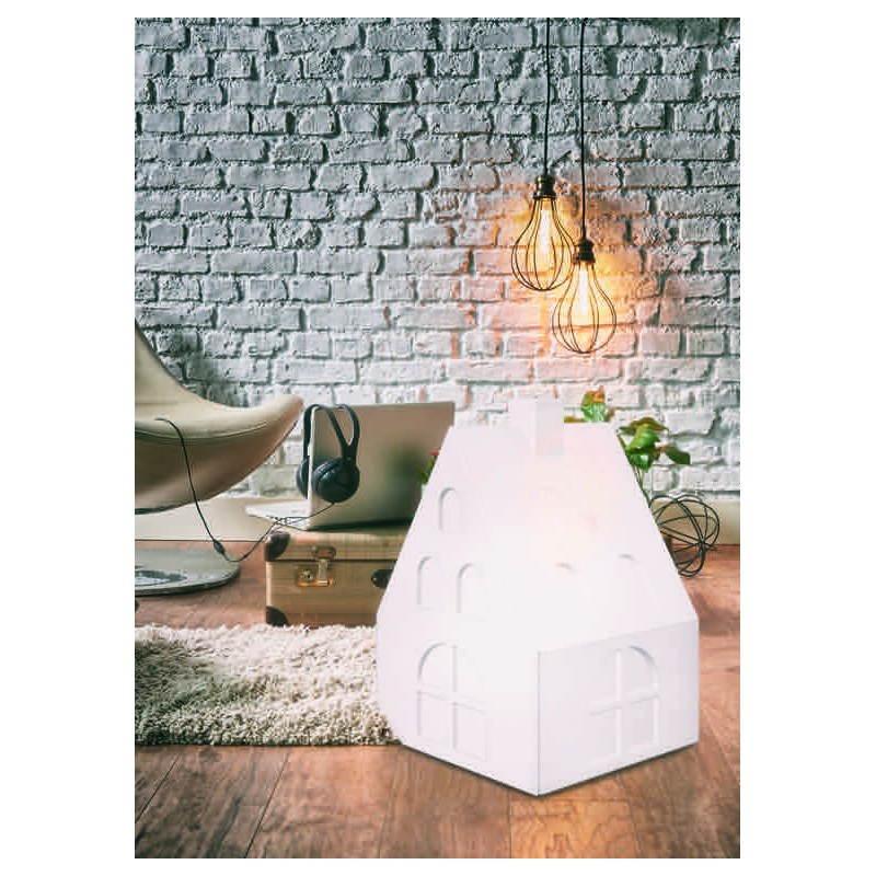 Lampe lumineuse maison int rieur ext rieur blanc for Lampe exterieur maison