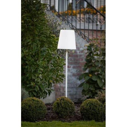 Lampadaire lumineux abat jour moyen NANA intérieur extérieur (blanc, LED multicolore)