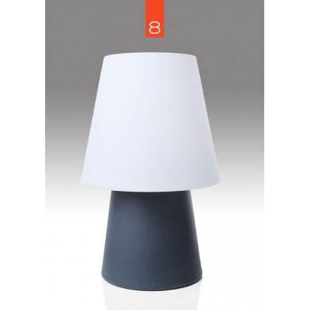 Lampe de table lumineuse MIMA intérieur extérieur (anthracite, LED multicolore, H 60 cm)