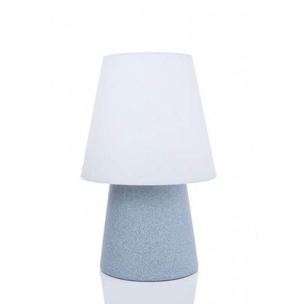 Lampe de table lumineuse MIMA intérieur extérieur (bleu, LED multicolore, H 60 cm)