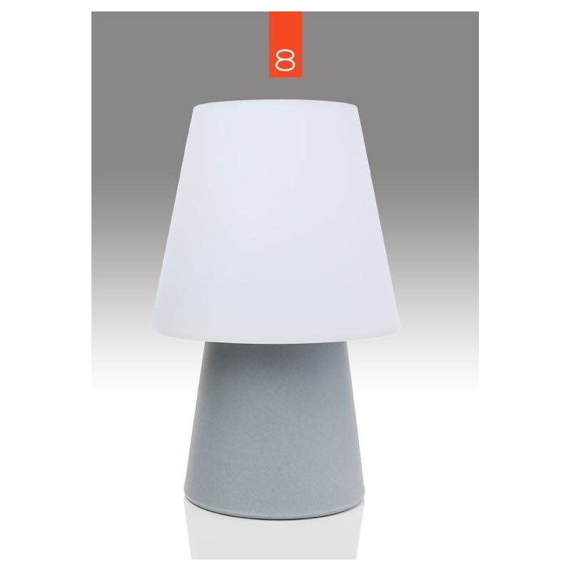Lámpara de mesa de luz MIMA interior LED al aire libre (gris, multicolor, H 60 cm) - image 24913
