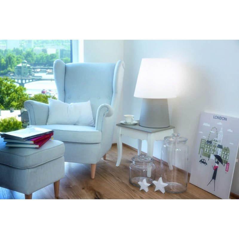 Lámpara de mesa de luz MIMA interior LED al aire libre (gris, multicolor, H 60 cm) - image 24916