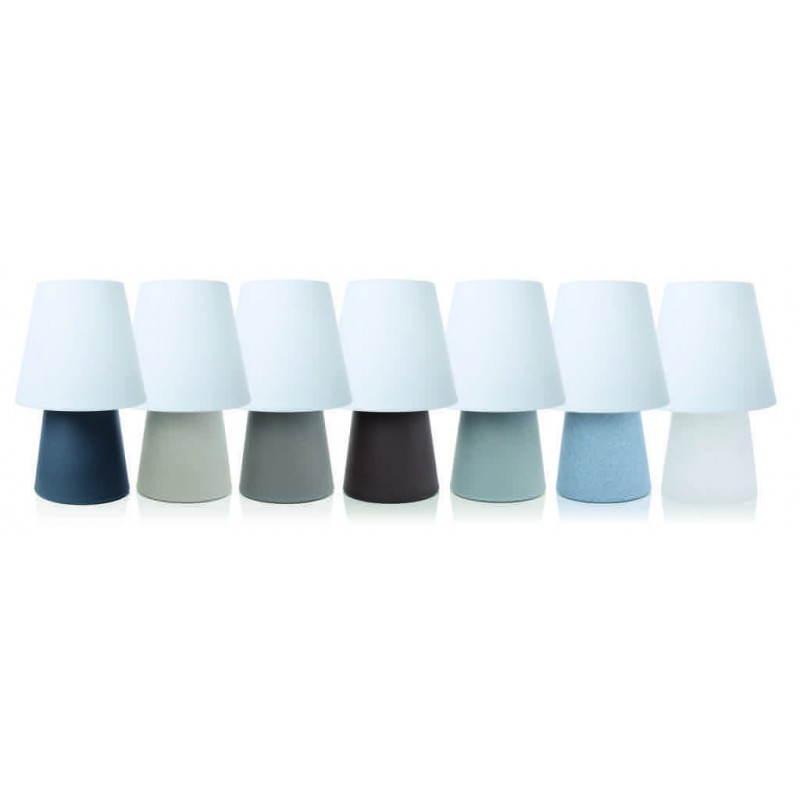 Lámpara de mesa de luz MIMA interior LED al aire libre (gris, multicolor, H 60 cm) - image 24918