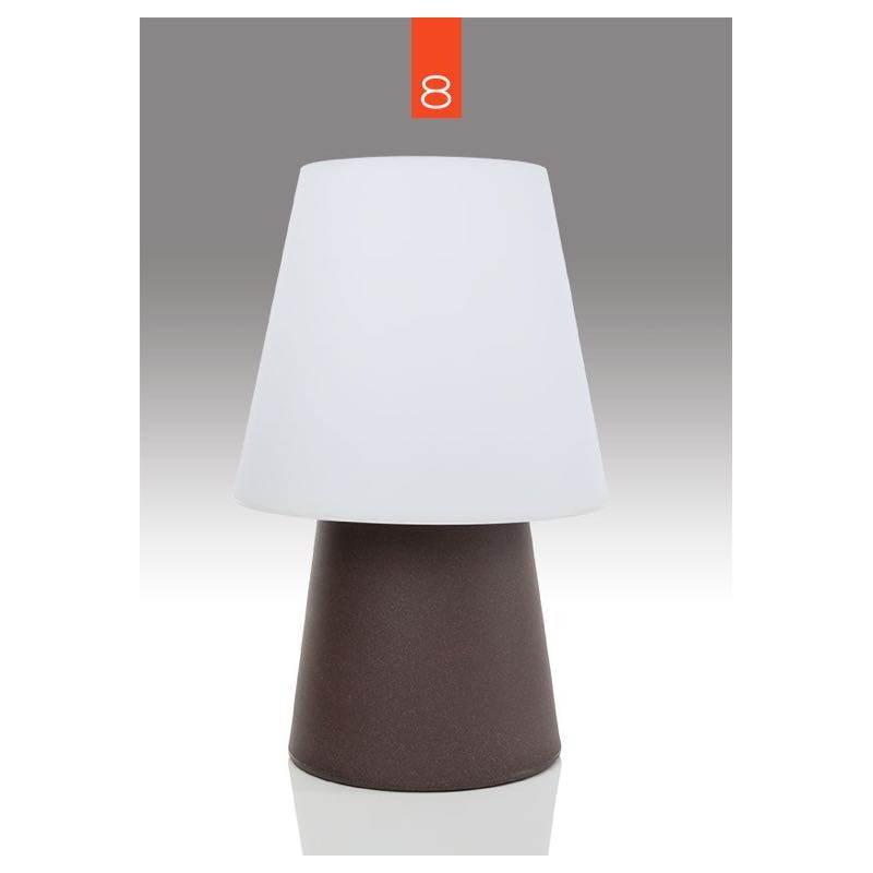 Lampe de table lumineuse mima int rieur ext rieur marron for Table exterieur interieur