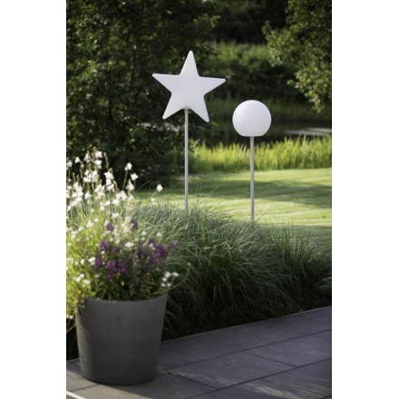 Light fixture on foot outside domestic Star (white, multicolor LED)