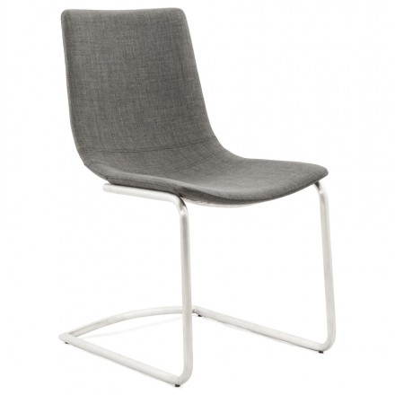 Design chair and modern RIMINI (grey) textile
