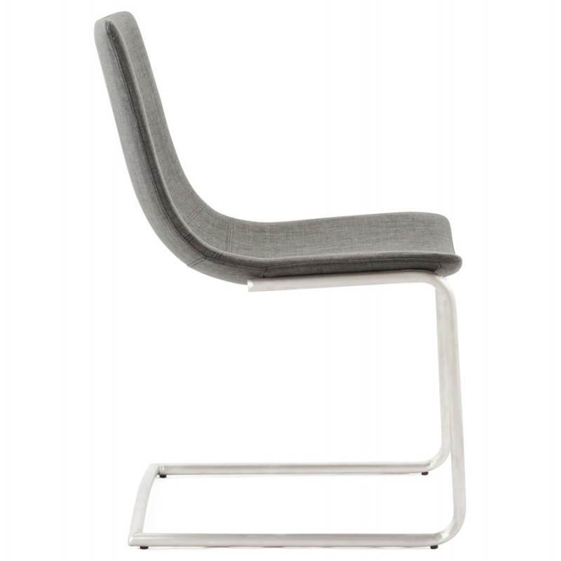 Chaise design et moderne RIMINI en textile (gris) - image 24975