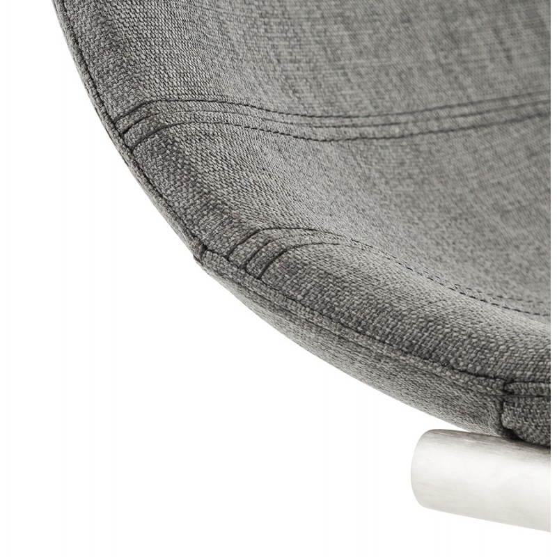 Chaise design et moderne RIMINI en textile (gris) - image 24981
