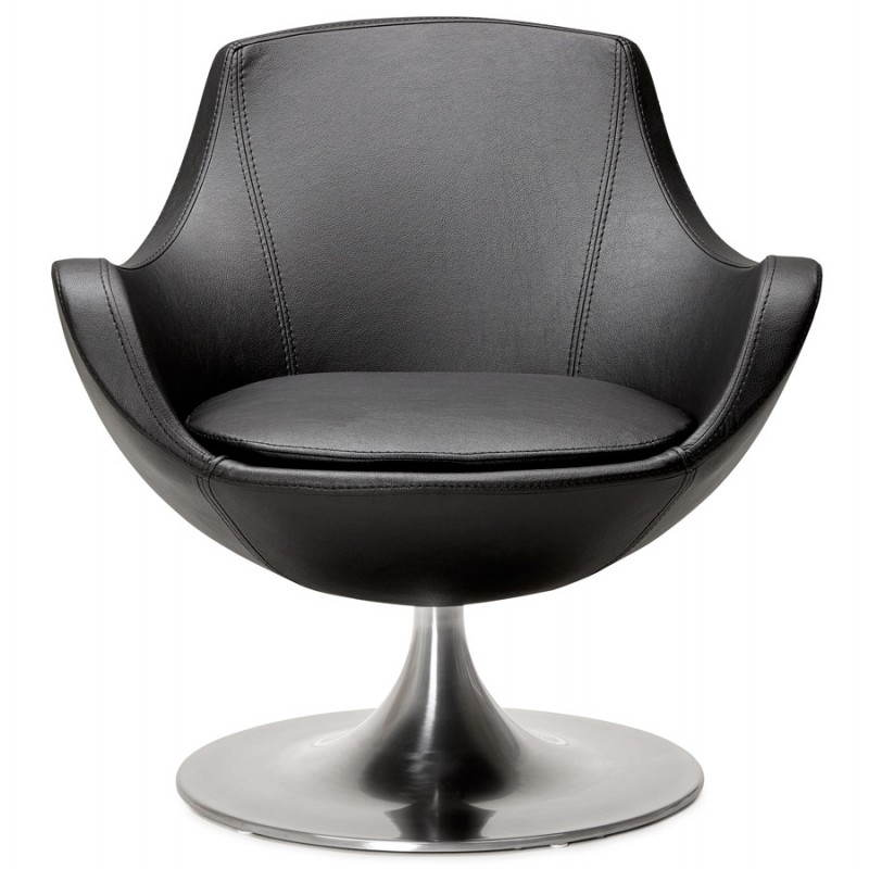 Design rotating armchair with 360 ° ROMANE (black) - image 25012