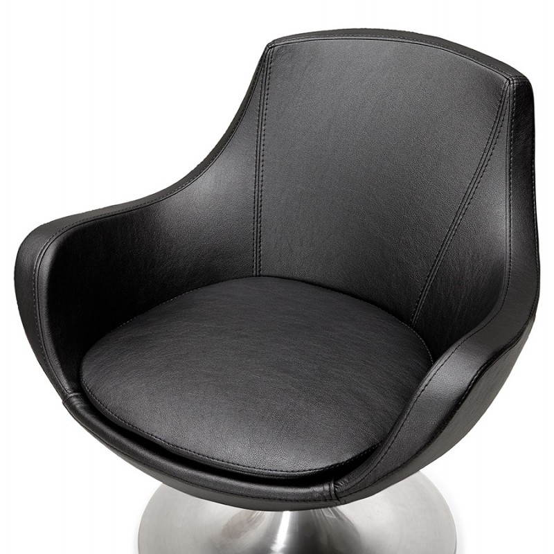 Design rotating armchair with 360 ° ROMANE (black) - image 25016