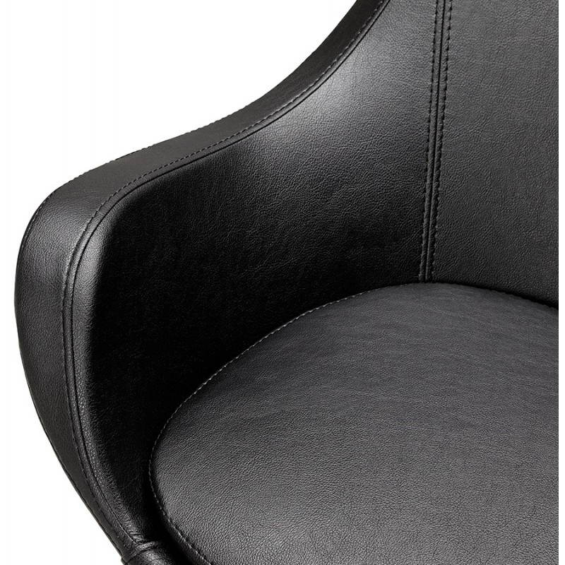 Design rotating armchair with 360 ° ROMANE (black) - image 25019