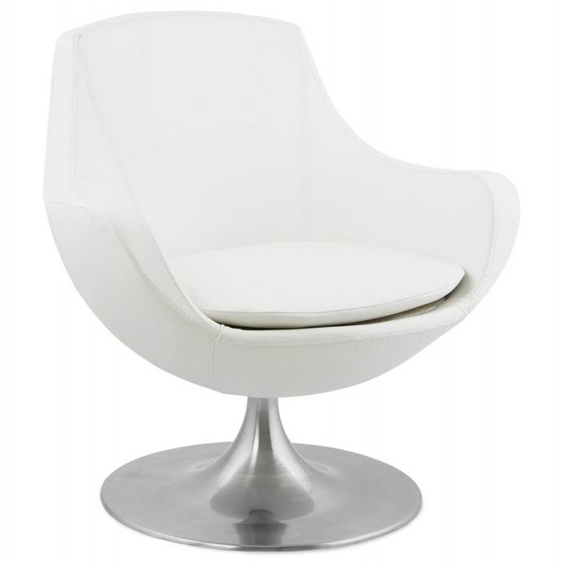 Design rotating armchair with 360 ° ROMANE (white) - image 25025