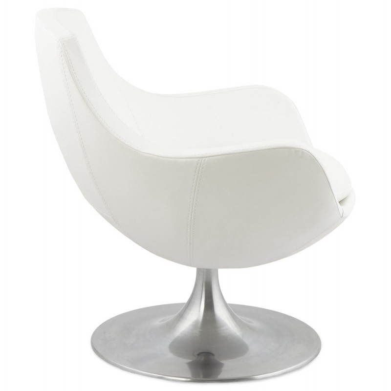 Design rotating armchair with 360 ° ROMANE (white) - image 25027
